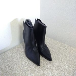 Marc Fisher Black Leather Ankle Boots